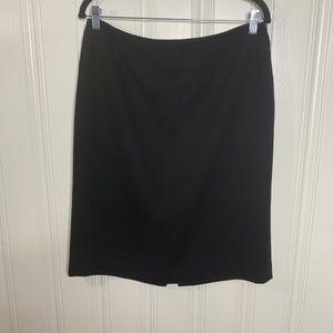 Talbots Black Wool Career Pencil Skirt Size 10